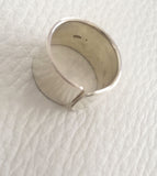 Thick Simple Silver Ring