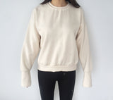 Long Open Sleeved Sweatshirt  (Warm Material)