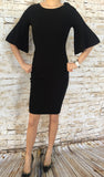 Loose Sleeve Black Dress