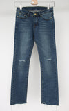 Blue Distressed Denim (Spandex Comfortable Material)