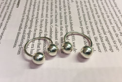 Two Silver Charms Ring