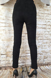 Suede Stretch Skinny Pants