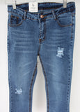 Light Blue Distressed Denim (Spandex Comfortable Material)
