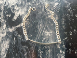 Chain Bracelet with Stick Pendant