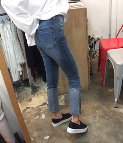 Roll-Up High Waist Denim
