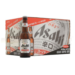 Asahi, Super Dry Beer Bottles 5%, 330ml (Case of 24)