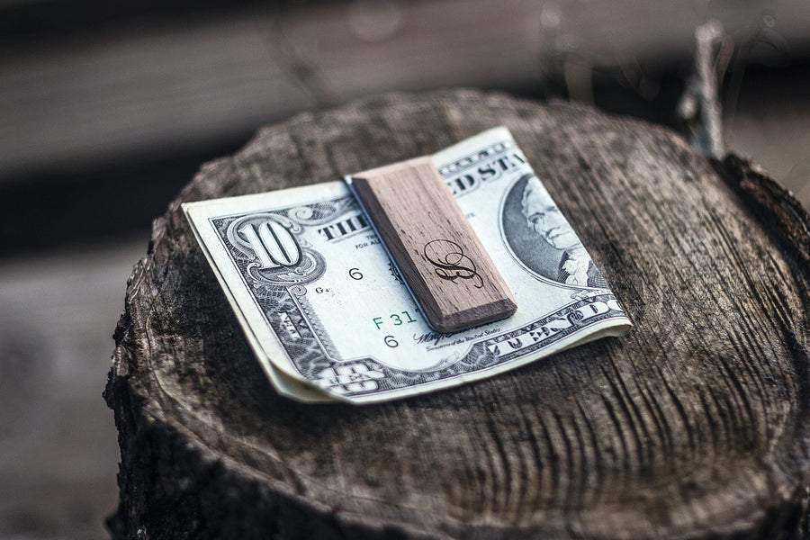 Wooden Money Clip -  4 types wood for choosing - TheHrdwood