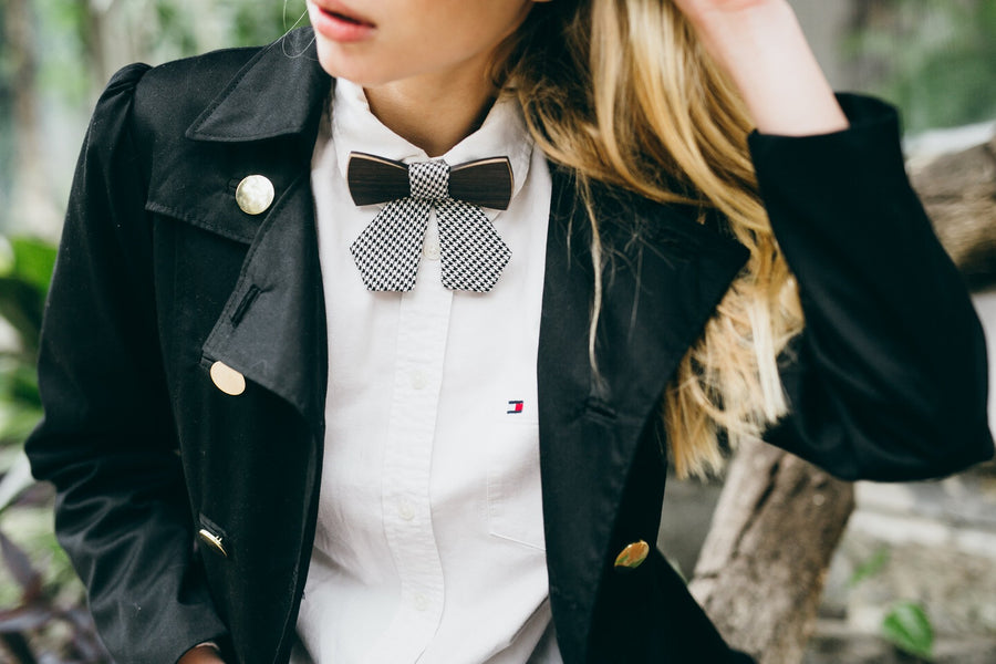 2 Types of wood used. Ebony + Maple wooden bow tie - TheHrdwood