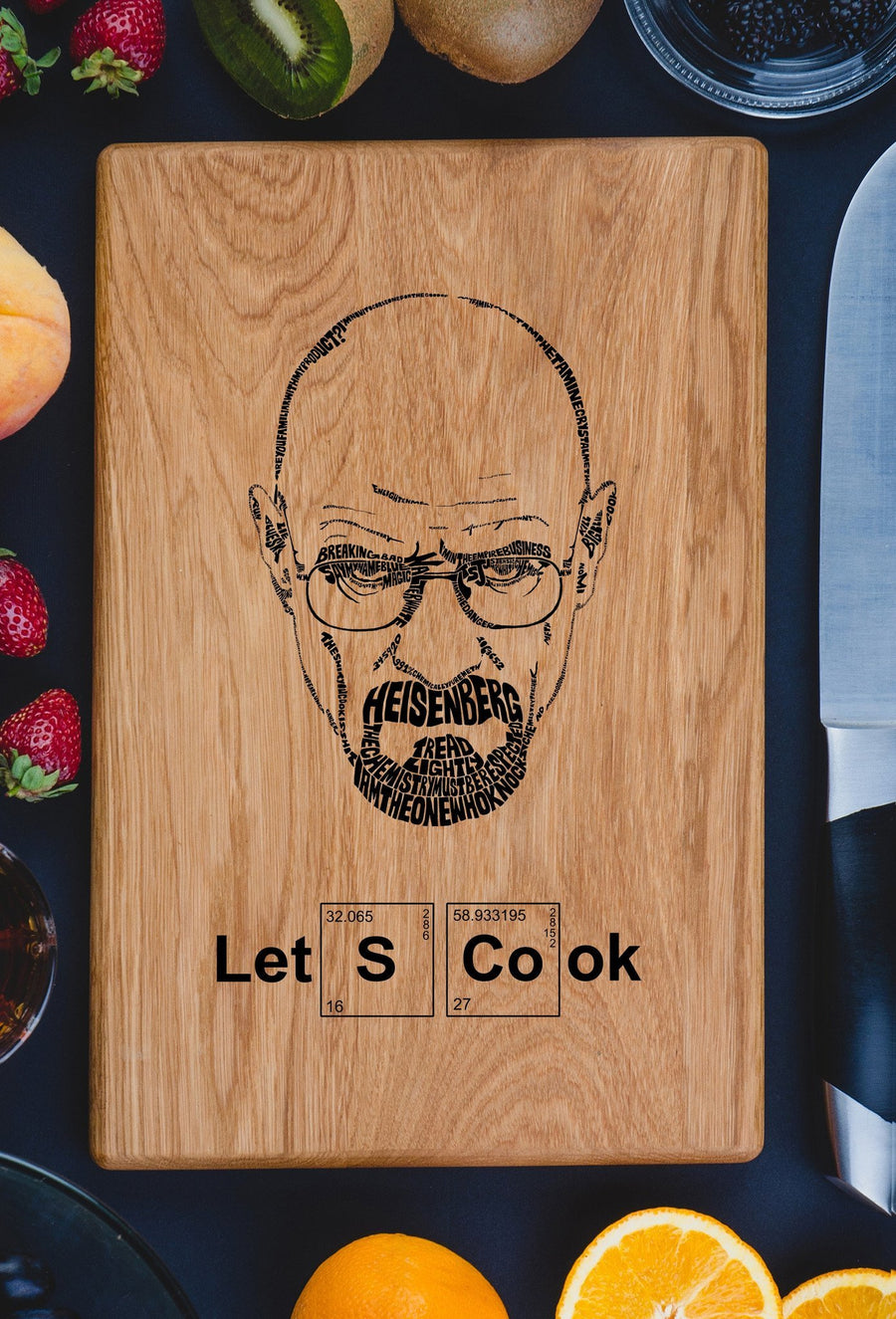 Let's Cook ,Breaking Bad Cutting board - TheHrdwood