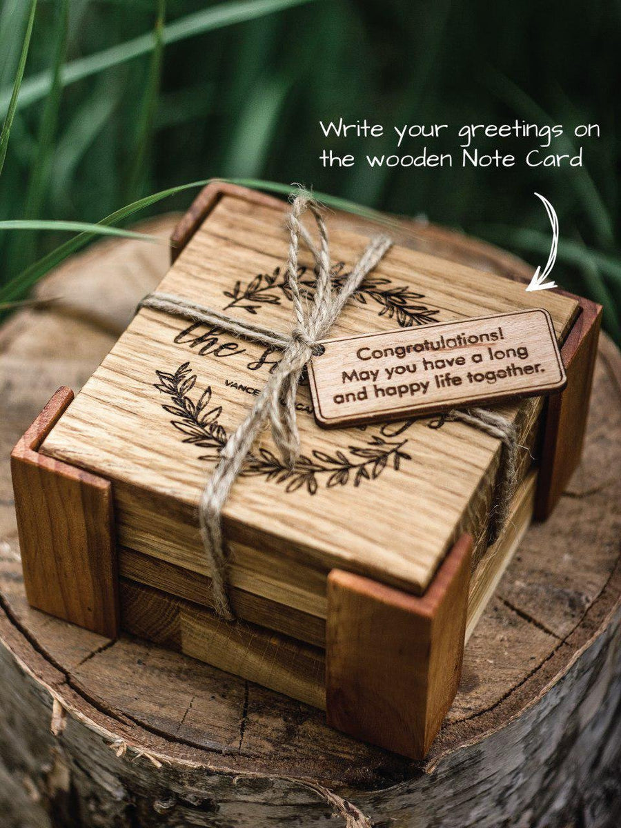 Wooden coasters bouquet