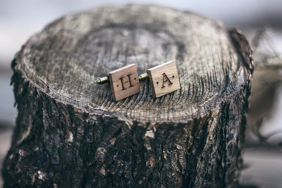 Wooden Cuff Link - TheHrdwood