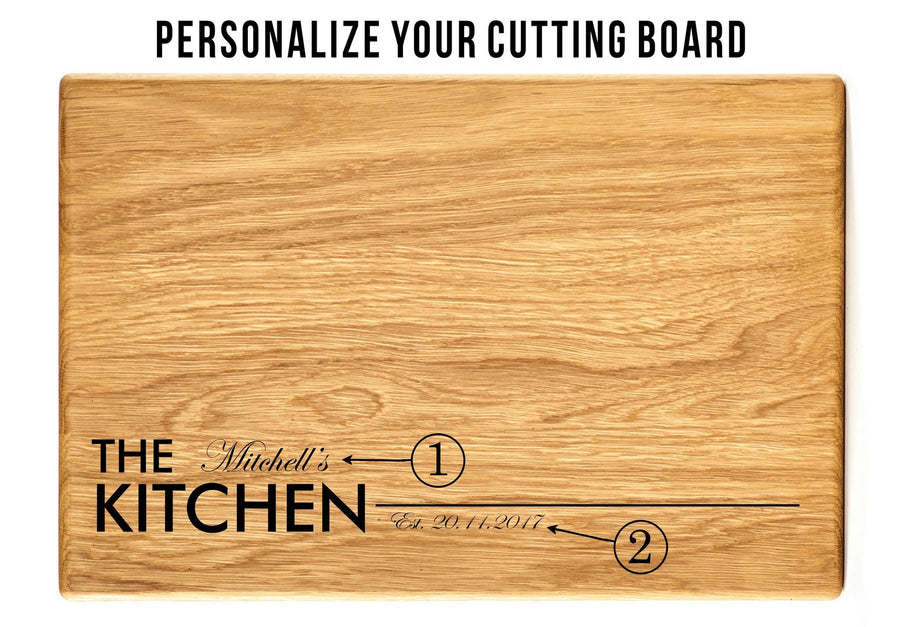 The Kitchen - Personalized cutting board - TheHrdwood