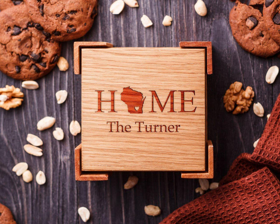 Wooden coasters Turner