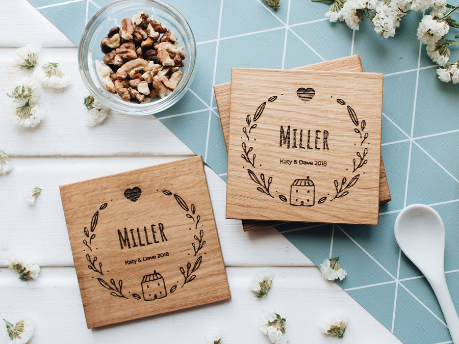 Wooden coasters heart
