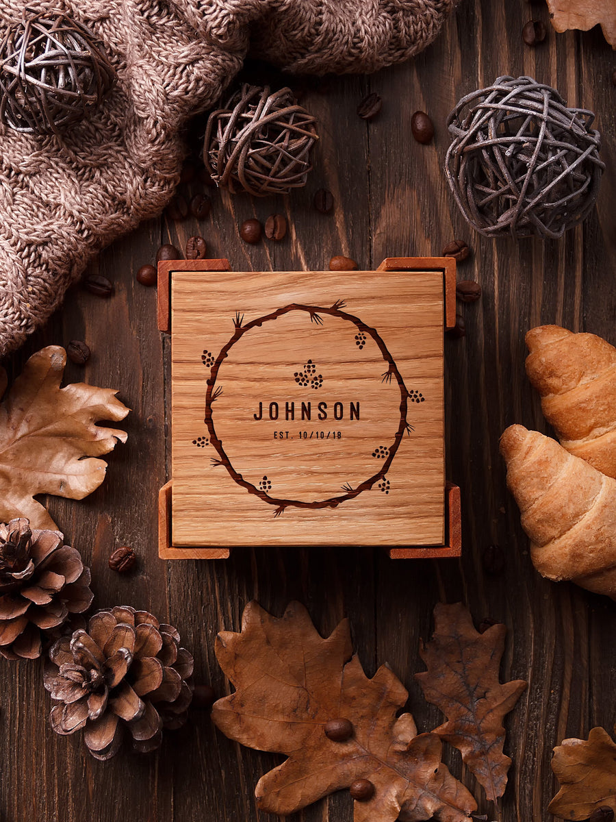 Wooden coasters johnson