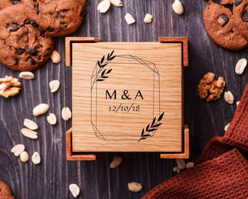 Wooden coasters monogram