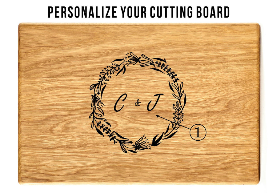Monogram Custom Cutting board - TheHrdwood