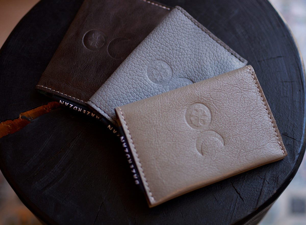 Folded Wallet and Card Holder (Material: Leather)