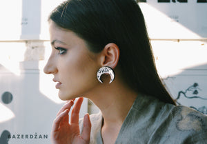 Moon Bosancica Earrings - by IVYQ studio