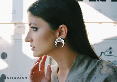 Moon Bosancica Earrings - by IVYQ studio - Bazerdzan