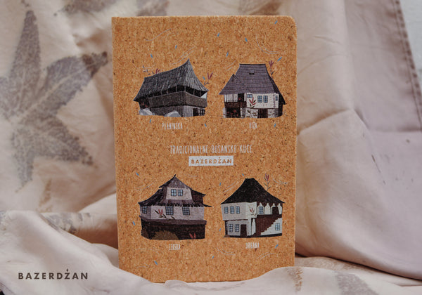"""Traditional Bosnian Houses"" Notebook, (Cork) - Bazerdzan"