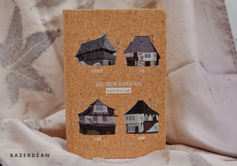 """Traditional Bosnian Houses"" Notebook, (Cork)"