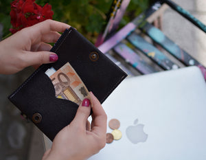 Folded Wallet and Card Holder (Material: Leather) - Bazerdzan