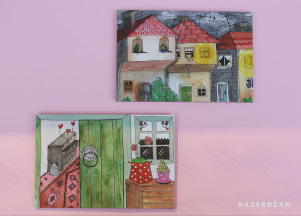 "Illustration ""Sarajevo door"" print on aluminum Dibond - by artist @dalilaman"