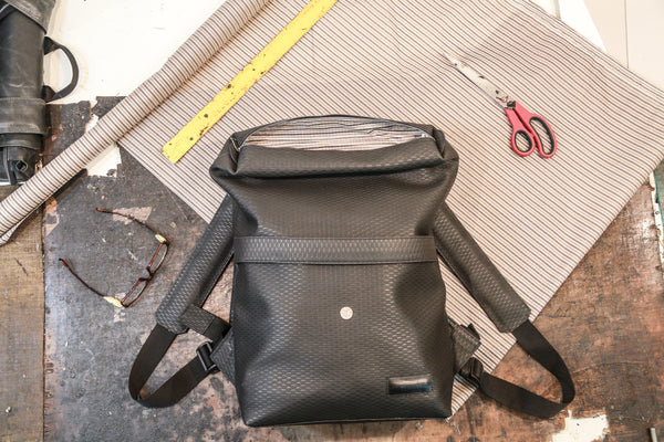 Leather backpack (Black, Medium) - Bazerdzan