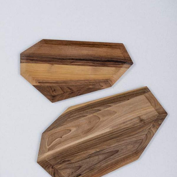 Cutting board - Diamond Twins (Material: Walnut)