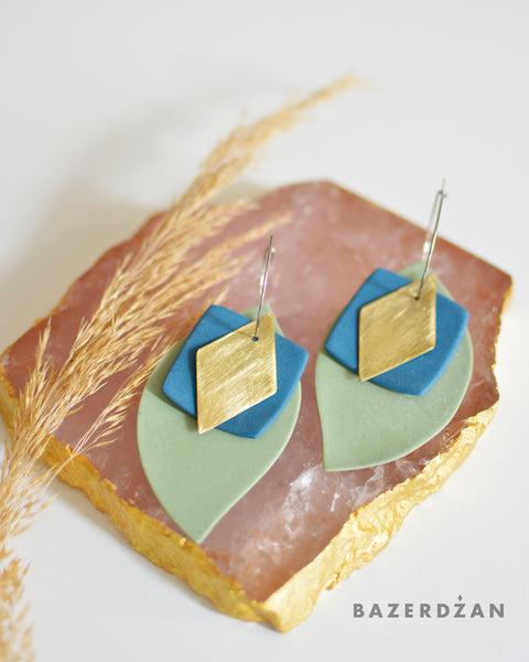 Baklava - Inspired Ceramic Earrings by bokajok - Bazerdzan