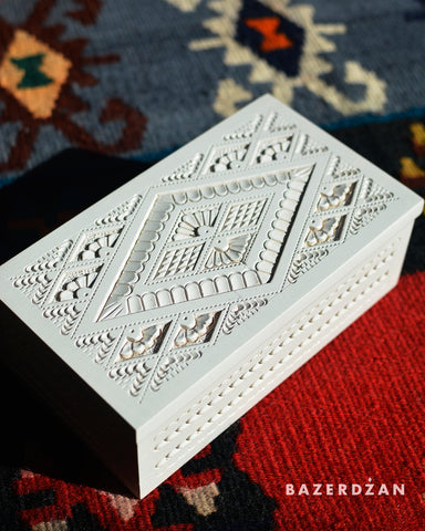 Traditionally Hand Carved Jewelry Box - Bazerdzan