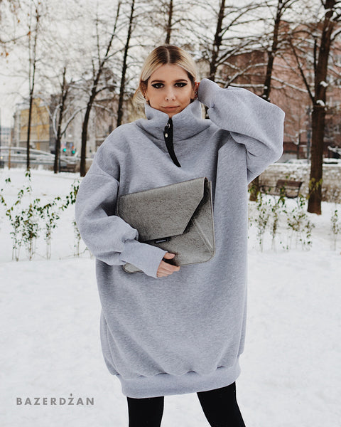 Oversized turtleneck dress - Bazerdzan