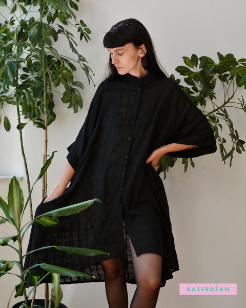 Gauze Midi Shirt Dress - Three Colors Available - Bazerdzan