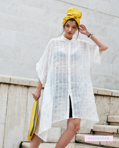 Gauze Midi Shirt Dress - Three Colors Available