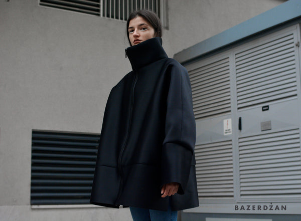 Black oversized jacket - Bazerdzan