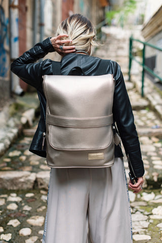 Leather backpack (Black, Medium) | Bazerdžan