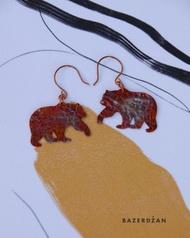 """Autumn Rhapsody"" earrings by Natasha Rubis - Bazerdzan"