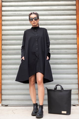 Long Sleeve Dress/Shirt (Black)