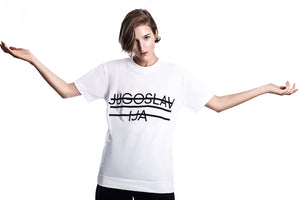 Jugoslavija T-Shirt (Material: 100% Organic Cotton, Color: White), by Marko Feher