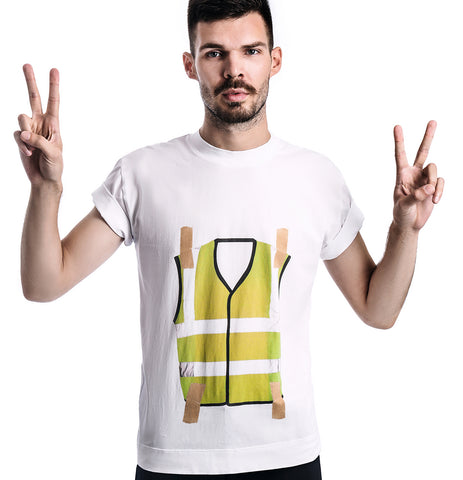 Yellow Vest Movement T-Shirt (Material: 95% Organic Cotton, 5% Elastane) - Bazerdzan