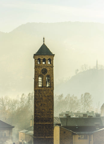 Photo print on aluminum Dibond: Sarajevo Clock Tower