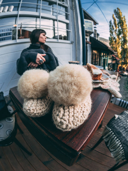 Wool crochet slippers (with non-skid sole) | Bazerdžan