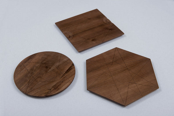 Cutting Board - Triplets (Material: Walnut) - Bazerdzan