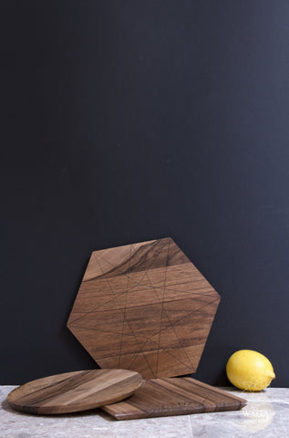Cutting Board - Triplets (Material: Walnut)