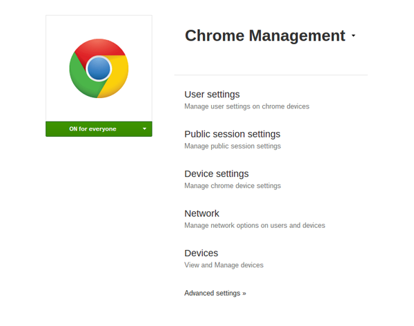 Chrome Device Management Licence