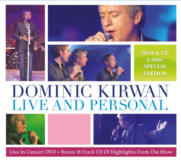 Live And Personal - Dominic Kirwan - DVD & CD   2 Disc Special