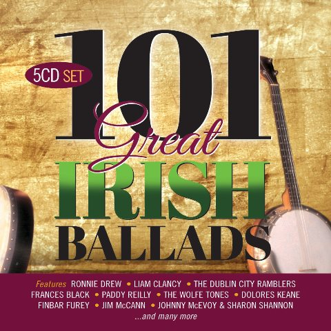 101 Great Irish Ballads  5CD