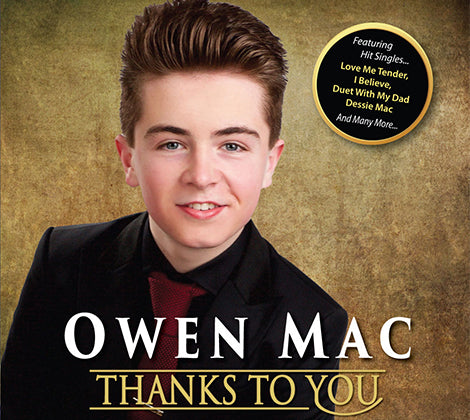 Owen Mac -  Thanks To You - New Album (PRE ORDER RELEASED 1ST NOVEMBER)