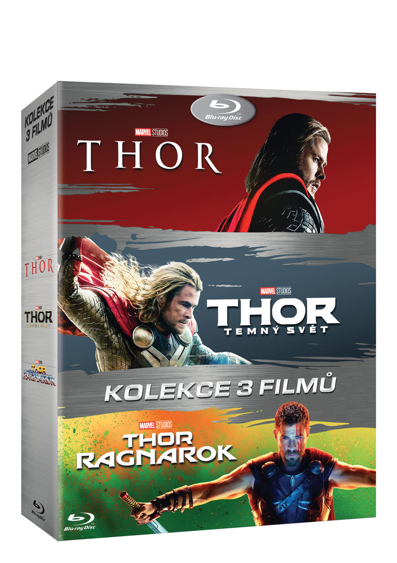 Thor kolekce 1-3 3BD / Thor 3-movie pack - Czech version